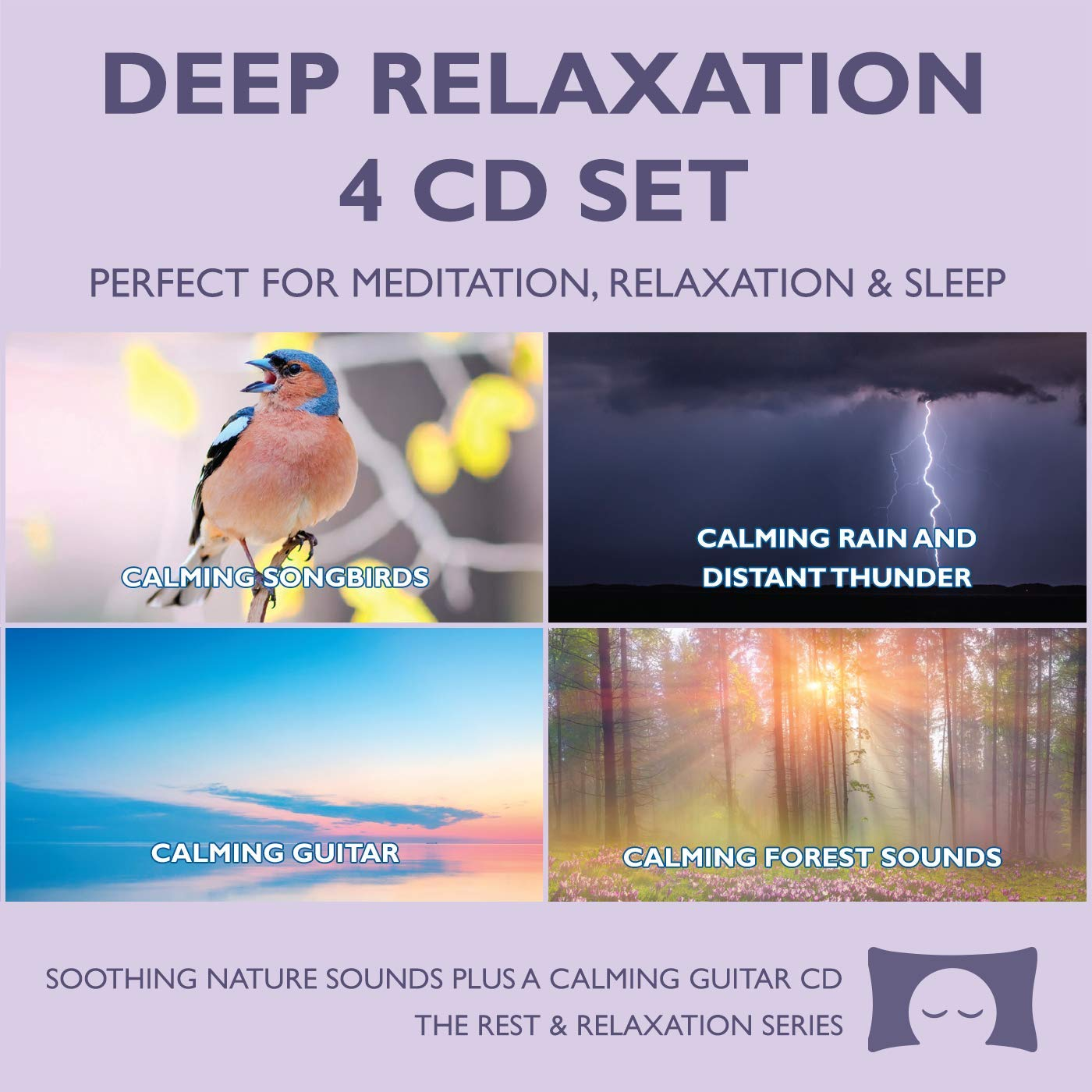 Deep Relaxation 4 CD Set - Soothing Nature Sounds for Meditation, Relaxation and Sleep - Nature's Perfect White Noise - by The Rhythm Tree - The Rest and Relaxation Series