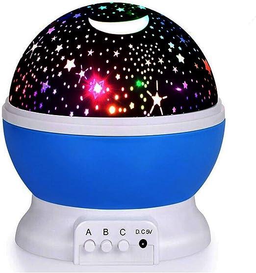LED Luz nocturna – elec Stars Noche Lámpara proyector de estrellas ...
