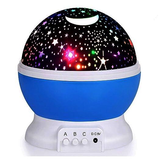 LED Luz nocturna - elec Stars Noche Lámpara proyector de estrellas ...
