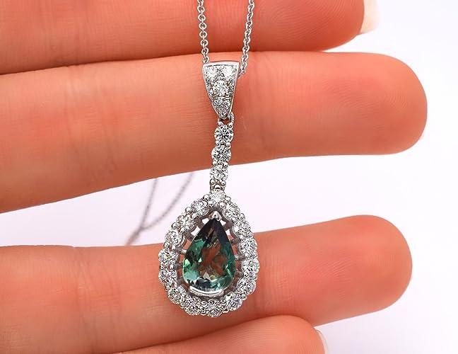 Amazon natural alexandrite diamond pendant necklace 321 cttw natural alexandrite diamond pendant necklace 321 cttw green to purple color change 14k aloadofball Images