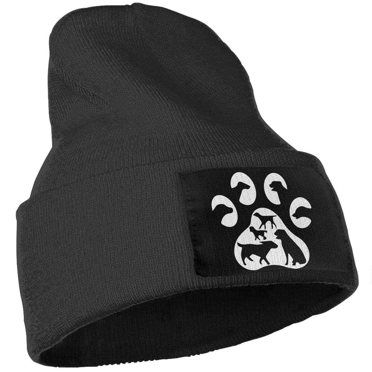 Dog Paw Skull Cap Men /& Women Knit Hats Stretchy /& Soft Beanie