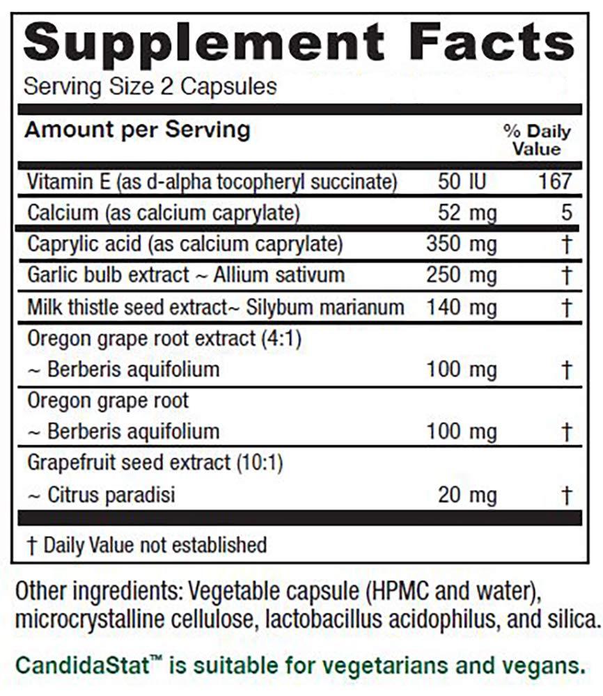 Vitanica Candidastat, Yeast Balance Support, Vegan, 120 Capsules by Vitanica