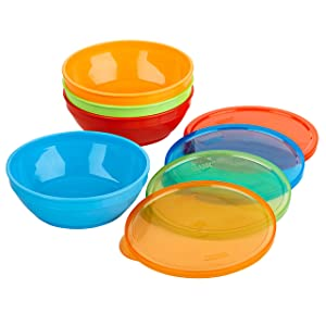 First Essentials by NUK Bunch-a-Bowls, Assorted Colors, 4-Pack