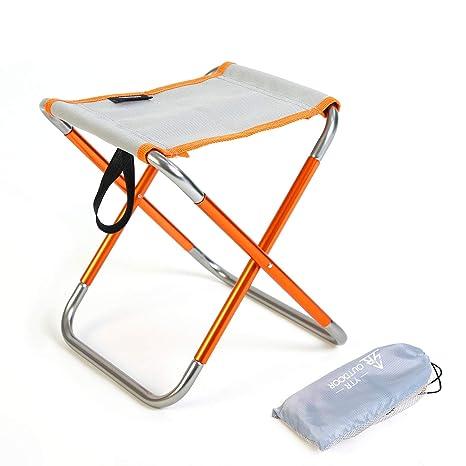 YTR OUTDOOR Taburete plegable para camping, para interior o ...