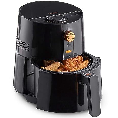 VonShef Freidora sin Aceite de Aire Caliente 2,5 L y 1300 W – Cocina Bajo en Grasa y Saludable, Control de Temperatura Ajustable