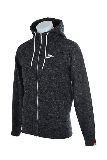 Nike Mens Sportswear Legacy Hooded Sweatshirt Black Heather/Sail 805057-032  Size Small