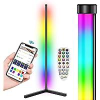 LYMIUS Lámpara de pie LED, Lámpara de pie De esquina RGB Cambio de Color con Control de APP, Luz de Pie para Sala de…