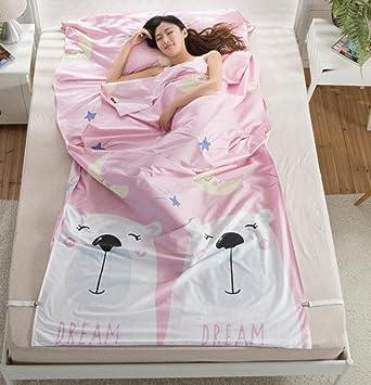 Hoteles a través del saco de dormir sucio portátil de interior saco de dormir sucio Hotel