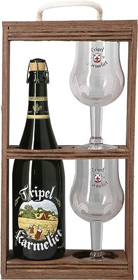 Tripel Karmeliet - Estuche de cerveza rubia Triple Karmeliet + 2 vasos: Amazon.es: Alimentación y bebidas