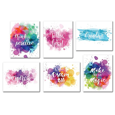 Inspirational Wall Art Quotes Poster Home Office Giclee Print Kitchen Living Room Decoration Kids Teens Bedroom Decor Motivational Painting Artwork 6