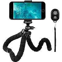 Rhodesy RT-02 Flexible Octopus Style Trépied Support Support avec télécommande Bluetooth pour Appareil Photo, Tout téléphone Intelligent avec Clip