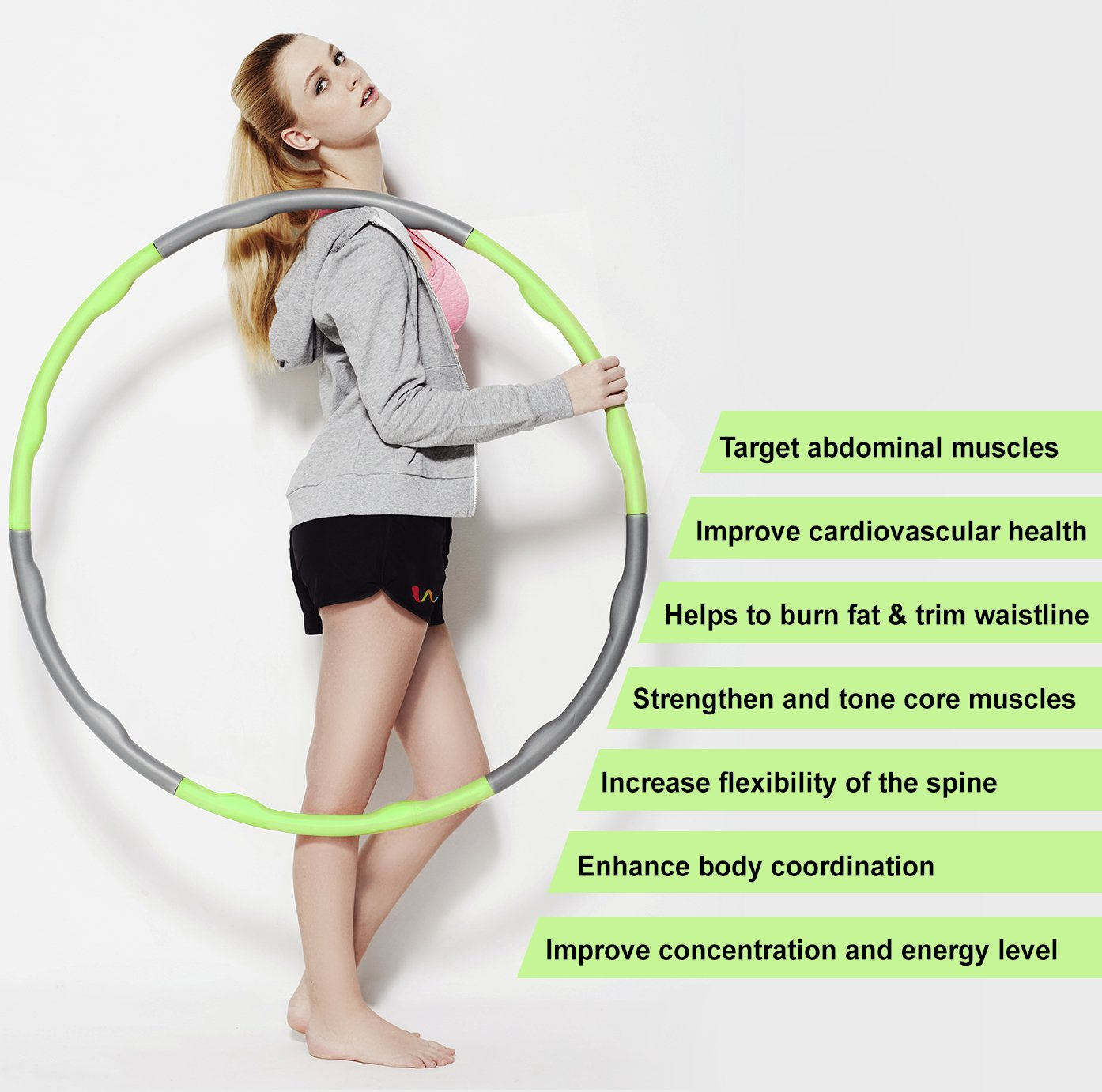 Amazon Wacces Weighted Hula Hoop 3 lb Sports & Outdoors