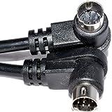 8 Pines mini DIN Derecho ángulo Cable Masculino Clavijas Audio Cable 1 m