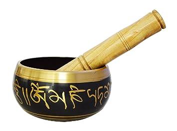 'ZAP Impex® de meditación tibetano om mani Cuenco tibetano/Cojín/Mallet
