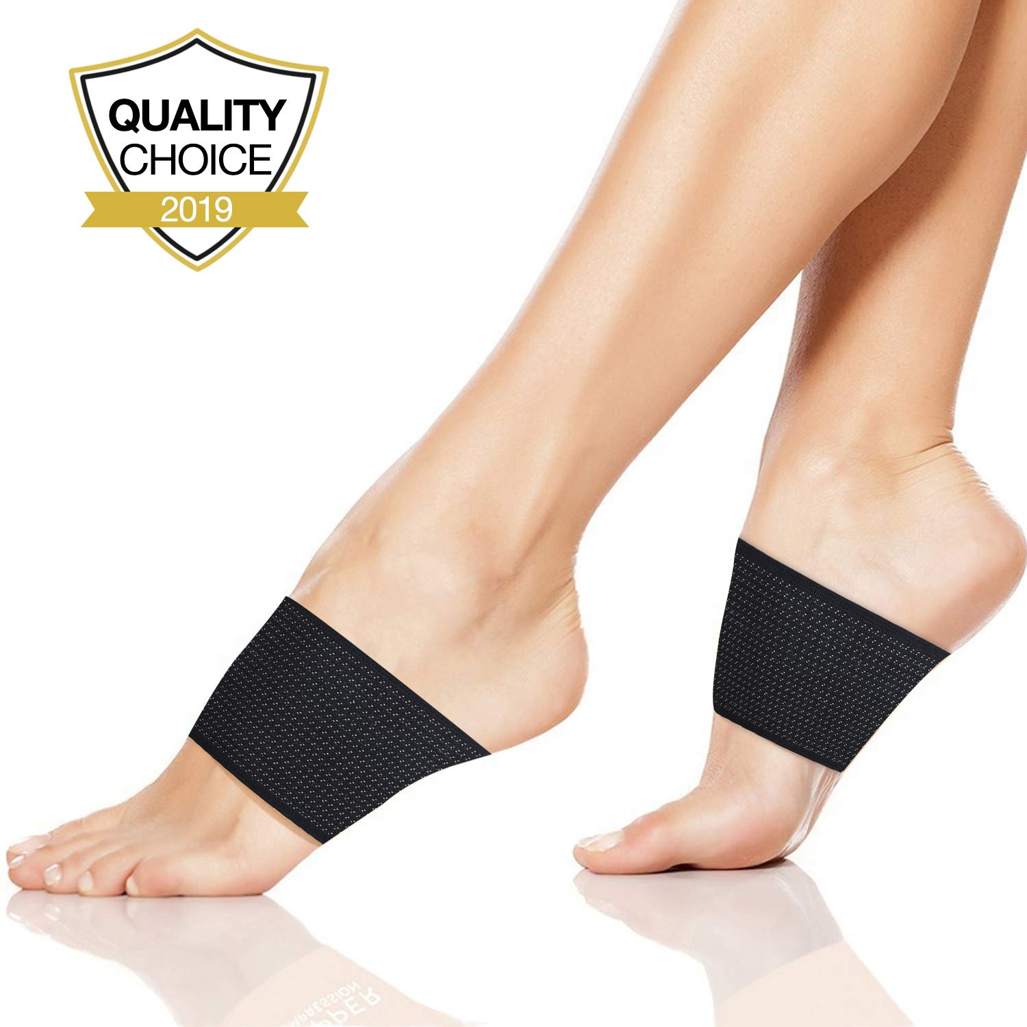 1d57fd5587 Amazon.com: Plantar Fasciitis Support, Compression Arch Support Brace - 2 Plantar  Fasciitis Sleeves for Flat Feet, Foot Pain, Heel Spurs and High Arch: ...