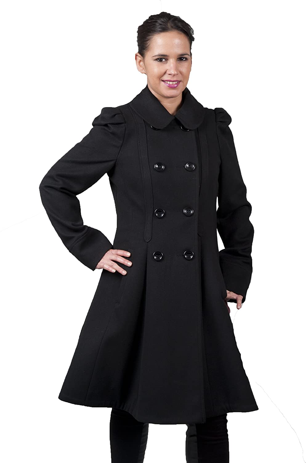Images of Black Wool Coat Womens - Watch Out, There's a Clothes About