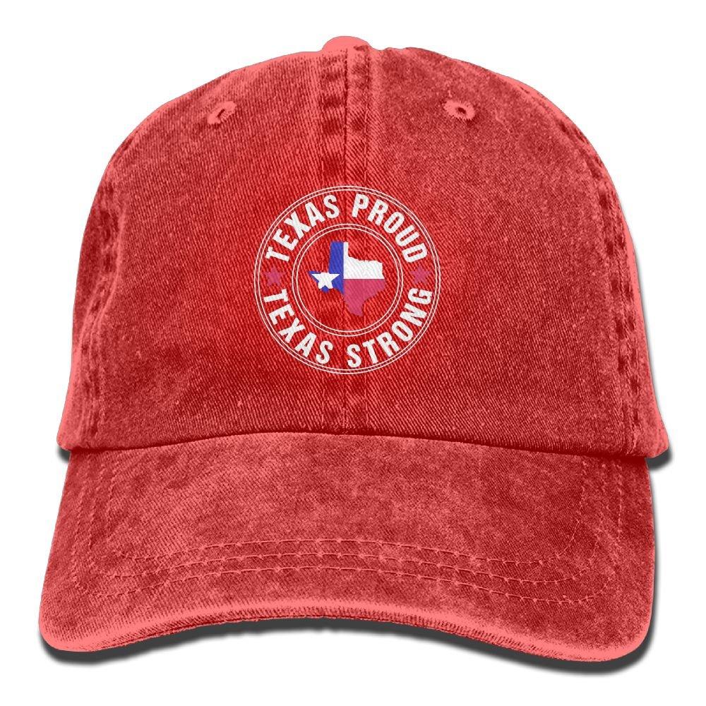 Texas StrongUnisex Washed Cotton Low Profile Adjustable Baseball Cap