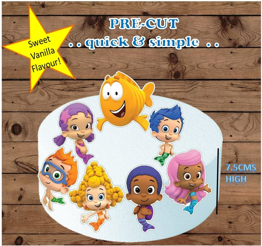 Remarkable Amazon Com Bubble Guppies Xl Edible Stand Up Birthday Cake Personalised Birthday Cards Veneteletsinfo