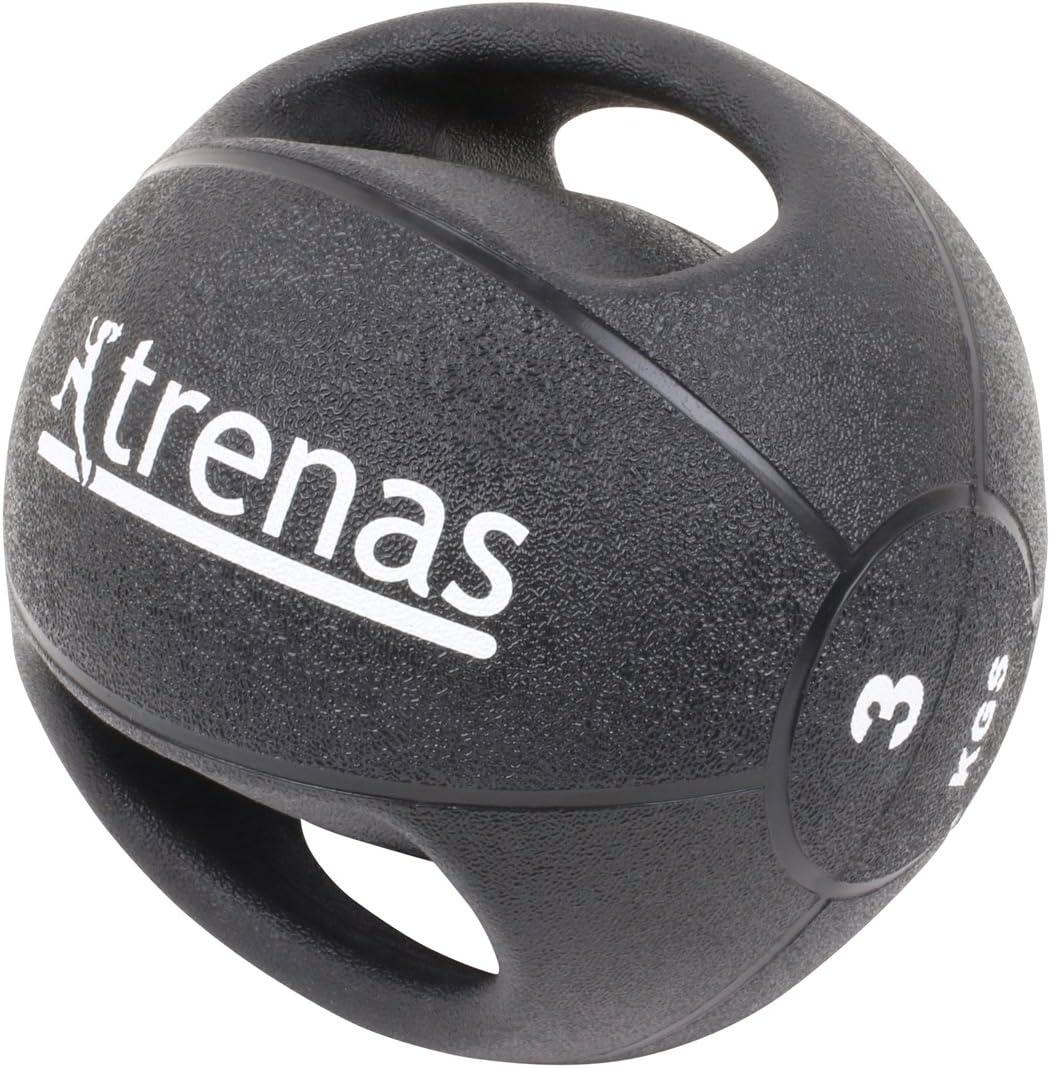 trenas Pro Balón Medicinal con Asas – 3 kg: Amazon.es: Deportes y ...