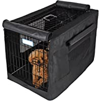 """Petsfit 30"""" L x 19"""" W x 21"""" H Black Polyester Crate Cover, for 3000 Wire Crate,One Door"""