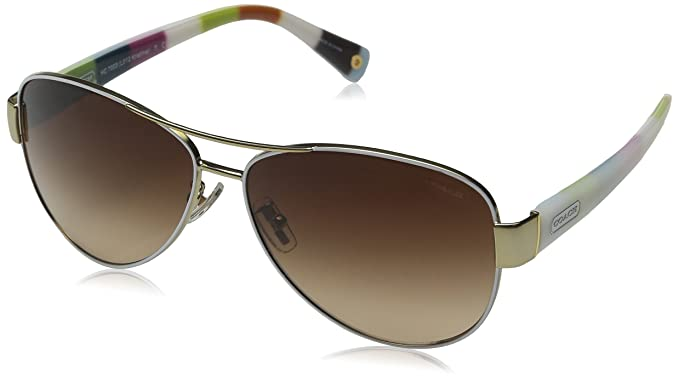 7d27d24573 Coach Women s Gradient HC7003-905113-59 Gold Aviator Sunglasses ...