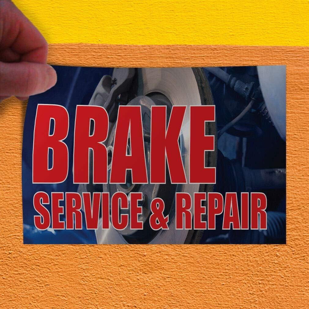 Decal Sticker Brake Service /& Repair #1 Style A Automotive tarpulin Store Sign-36inx24in