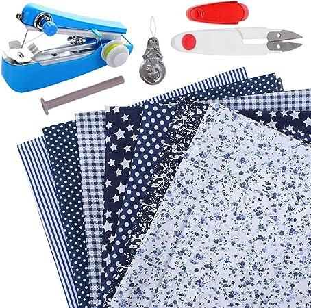 Kit de patchwork de paquete de tela artesanal de algodón 7 piezas ...