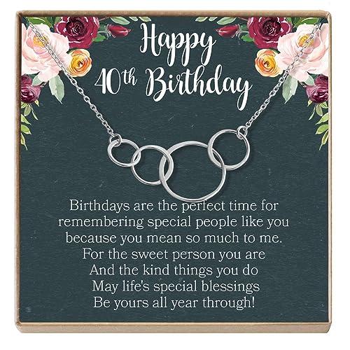 Dear Ava Collar de Regalo para 40 cumpleaños: Regalo de ...