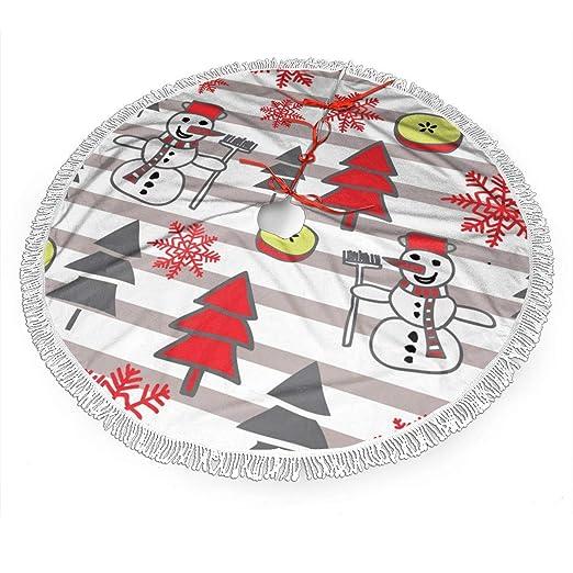 UKFaaa - Falda para árbol de Navidad, diseño navideño con muñeco ...