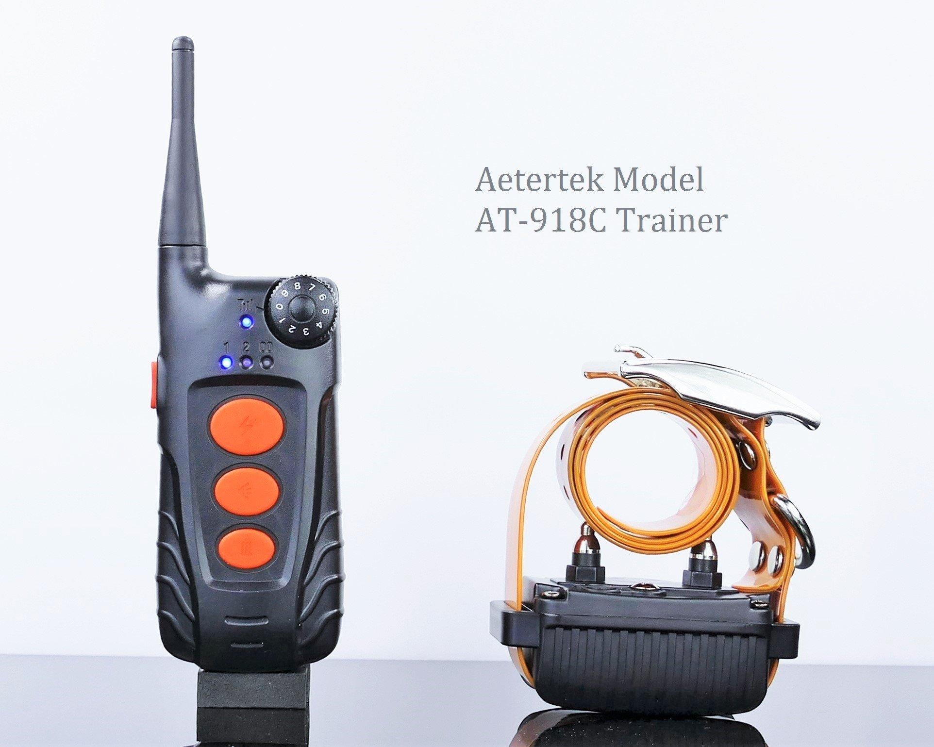 Aetertek 600 Meter Remote Dog Training Collar Rechargeable Waterproof Trainer w/Tone,Vibration,10 Levels of Adjustable Static Stimulation, (One Dog Trainer) by Aetertek