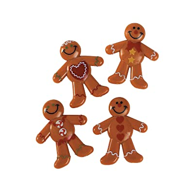 Fun Express - Vinyl Gingerbread Men (4dz) for Christmas - Toys - Character Toys - Vinyl Characters - Christmas - 48 Pieces: Toys & Games