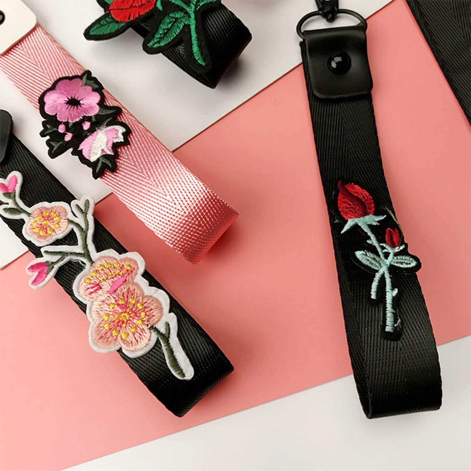 Mobile Phone Strap for One Plus 5T Rose Design Phone Hanging Strap Lanyard for X 8 Lanyard for Key Phone Decoration,7