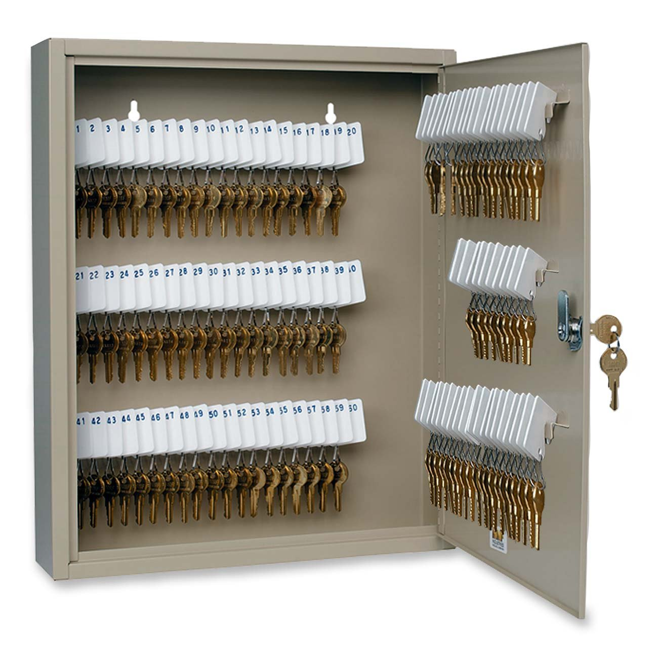 MMF Industries 110 Key Uni Tag Single Tag Key Cabinet With Key Lock