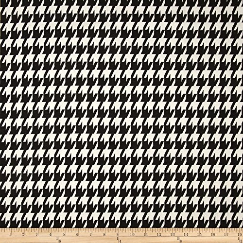 Premier Prints Large Houndstooth Black Fabric By The Yard Houndstooth Upholstery Fabric