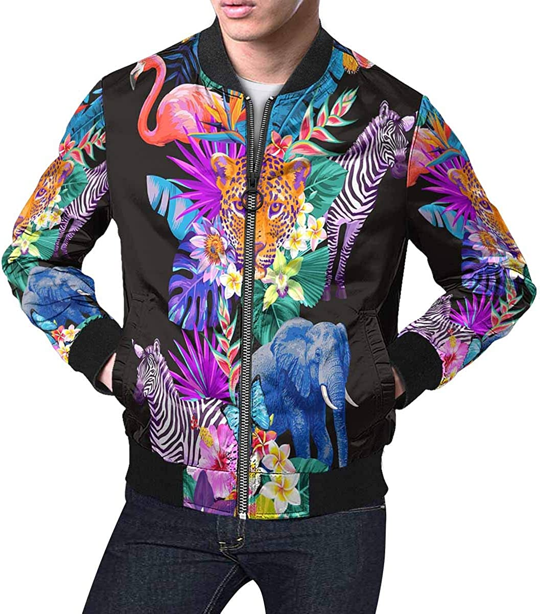 INTERESTPRINT Womens Beautiful Rainbow Unicorn Jacket Coat