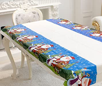 Amazon Com Classic Christmas Plastic Tablecloth 43 X70 Disposable