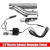 2.5' Electric Exhaust Catback Cutout Valve Y Pipe w/Controller Remote Kit