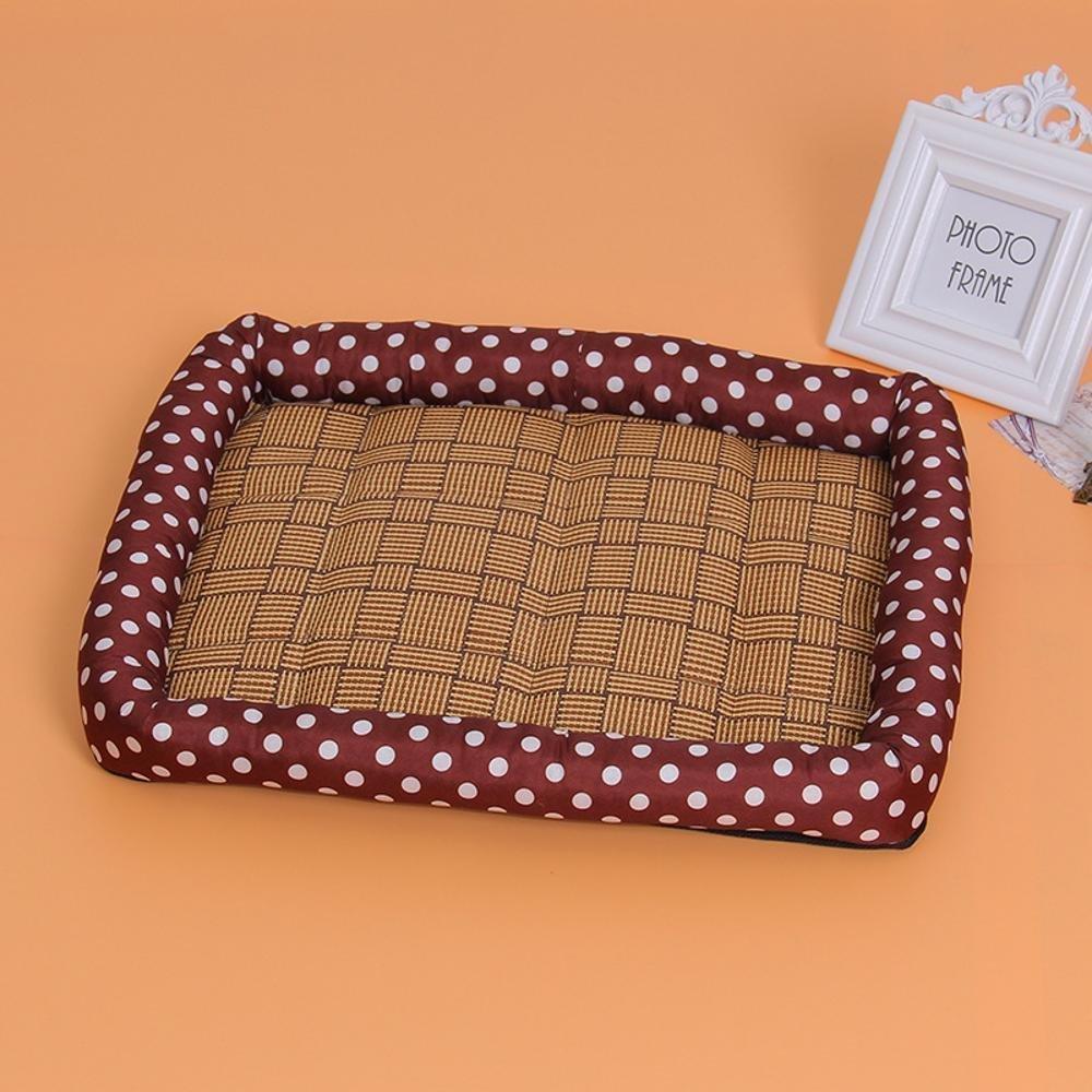 E 76617cm E 76617cm Desti Flakes Pet Bolster Dog Bed Comfort Cloth Dog Kennel Cat Litter Mat Pet mat (color   E, Size   76  61  7cm)