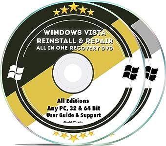 WINDOWS Vista Home Basic 64 bit Restore ReINSTALL Recovery Rescue Disc
