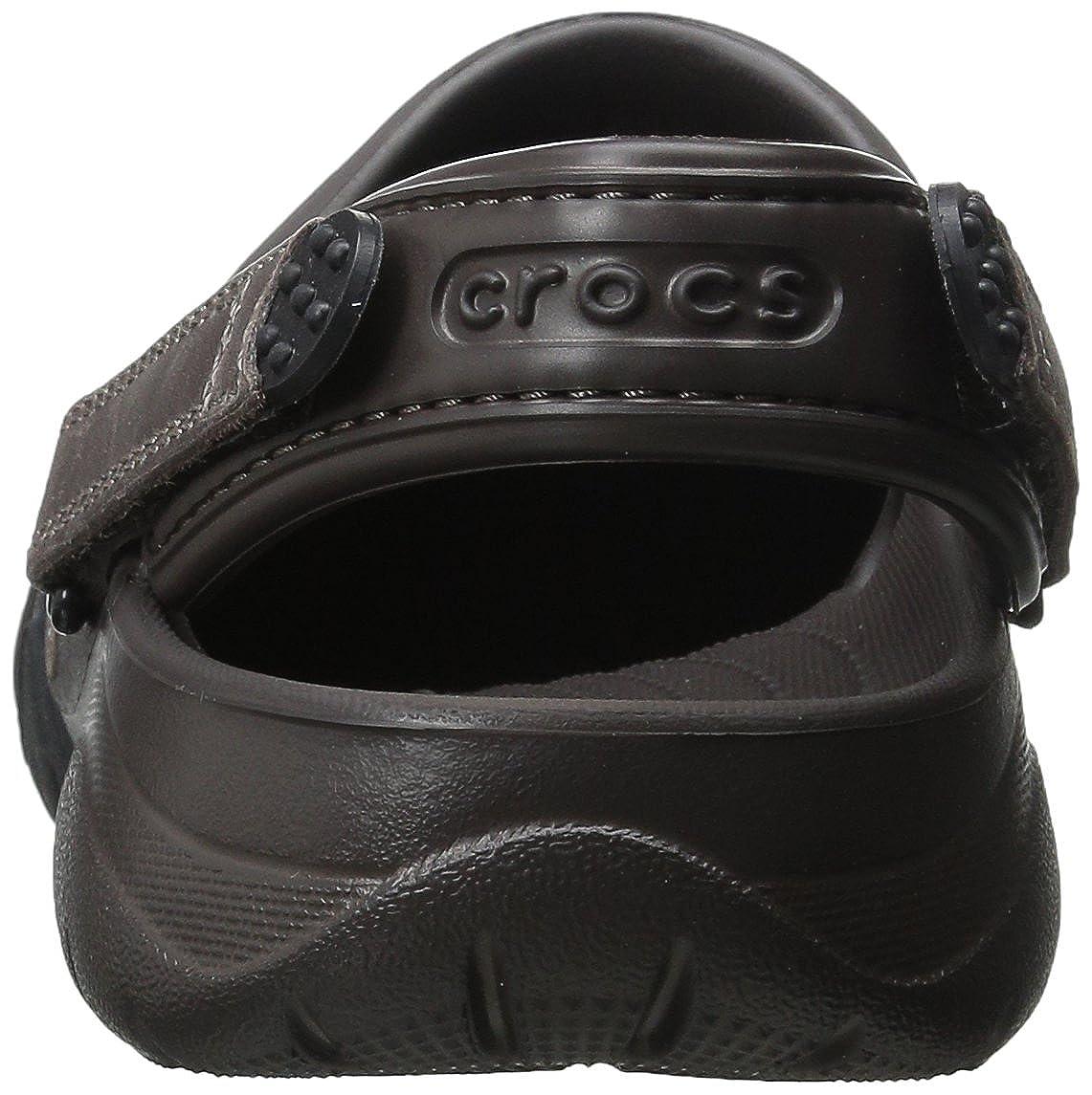 212e3ad7857bd Amazon.com | Crocs Men's Swiftwater Leather Clog | Mules & Clogs