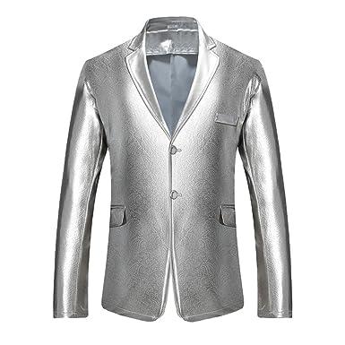 Chaqueta de Traje de Hombre Solapa Abrigo Blazer Elegante ...