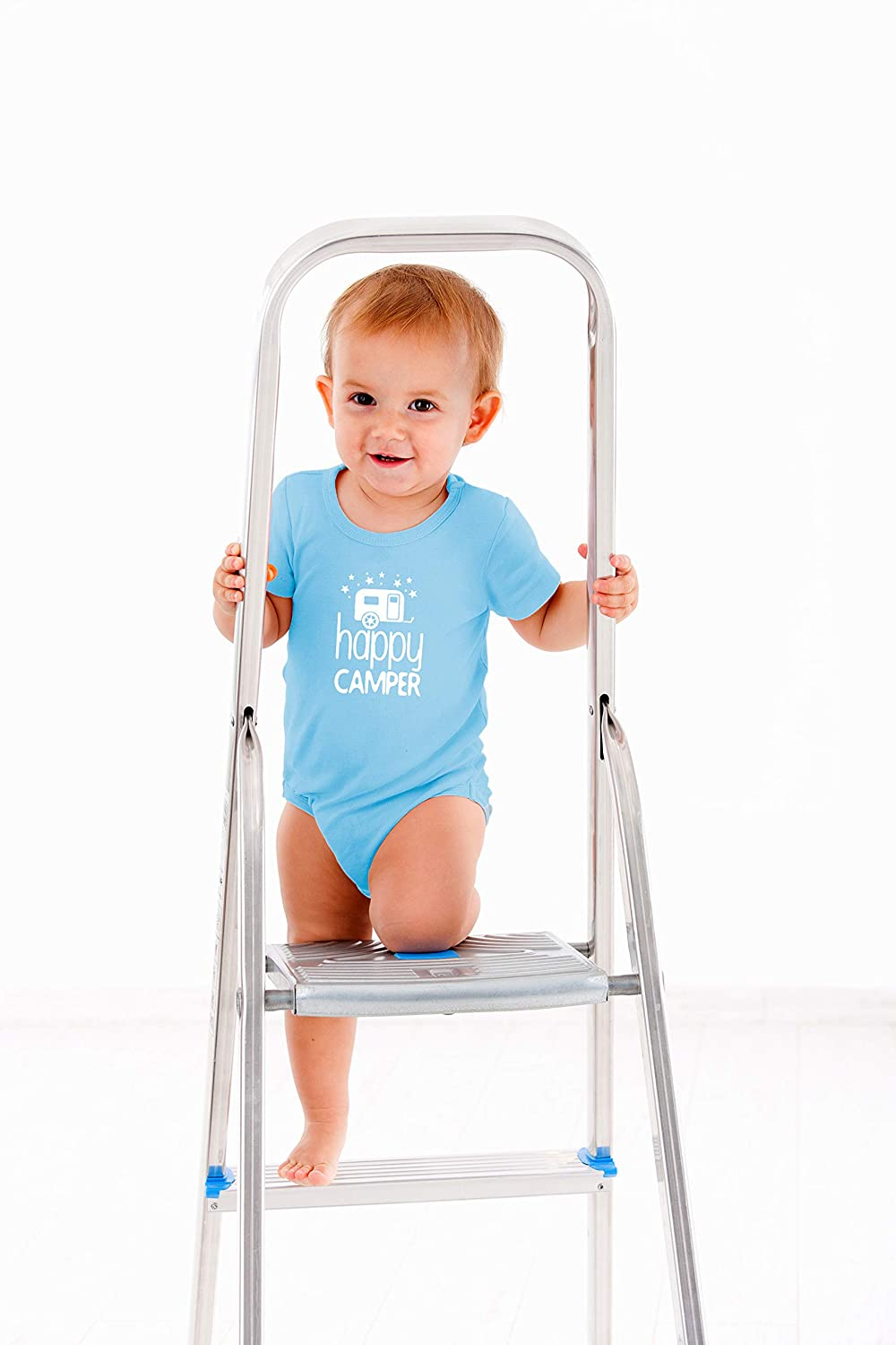 Cute One-Piece Infant Baby Bodysuit Id Rather Be Camping with My Family Happy Camper