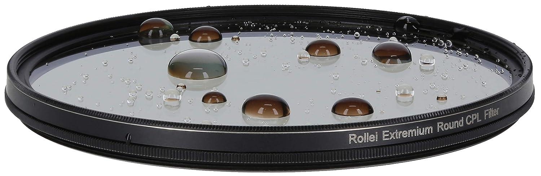 con anillo de aluminio de vidrio Gorilla con revestimiento especial 1 Stop Rollei Premium Round Filter CPL 55 mm Polarizador - Filtro polarizador Tama/ño: 55 mm
