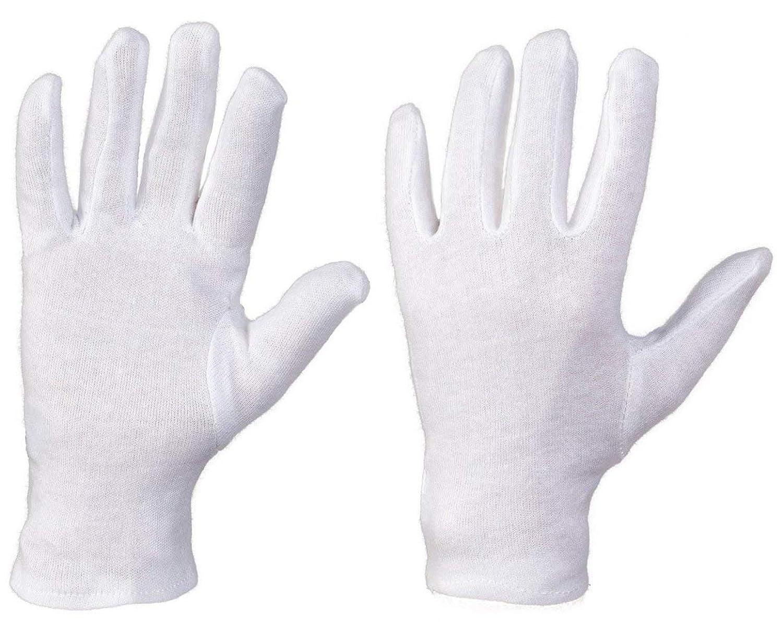 3 Paar Vergolderhandschuhe Baumwollhandschuhe Handschuhe aus 100% Baumwolle Blattgold-Blattsilber