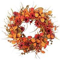 "AOLIGE 24"" Front Door Wreath Fall Decor for Home Halloween Thanksgiving Day Decorations Indoor Outdoor"