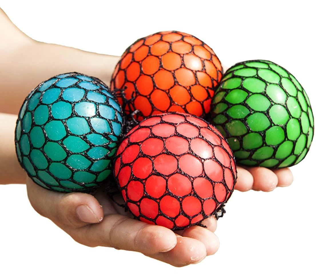 Mesh Squishy Ball Squeeze Grape Ball Relieve Pressure Ball, Colors May Vary, 2PCS wellknown zy-Mesh Squishy Ball02