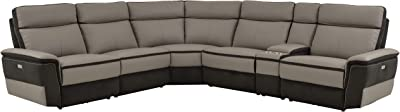 Amazon Com Tess Sectional Sofa For Corners Grey Kitchen