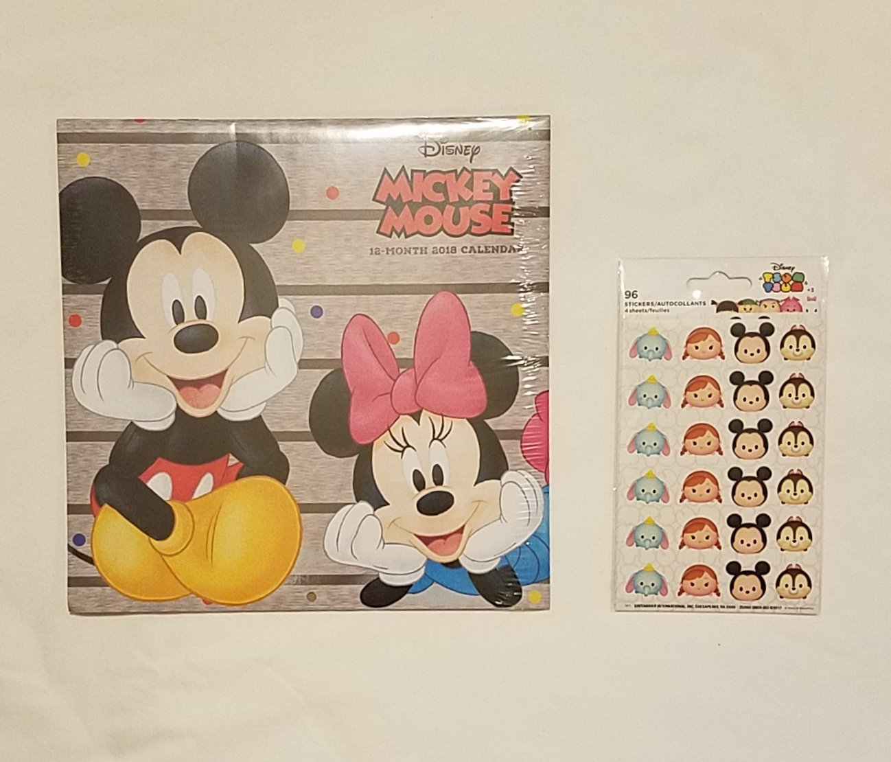 Mickey 2018 calendar with stickers
