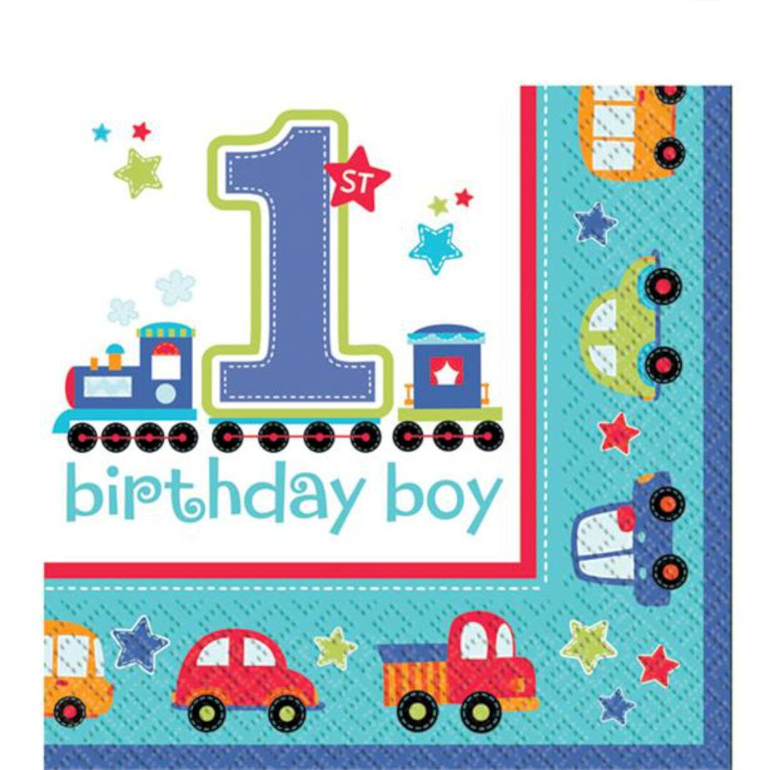 All Aboard First Birthday Luncheon Napkins Amscan 998104
