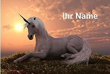 Gr/ö/ße 60 x 40 cm b-wie-bilder Magnettafel Pinnwand personalisiert mit Wunschmotiv und Namen Sofort Vorschau Farbe Pferd 2